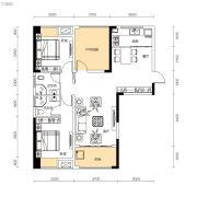 中交里城3室2厅2卫113平方米户型图