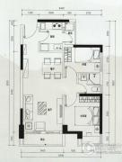 云顶澜山2室2厅1卫67平方米户型图
