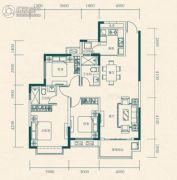 恒大世纪城3室2厅2卫105平方米户型图