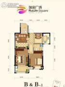 瑞金广场2室2厅1卫0平方米户型图