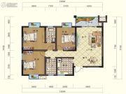 鸿大中域3室2厅1卫123平方米户型图