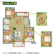 香堤春晓3室2厅2卫120平方米户型图