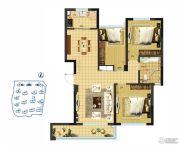 京联观湖3室2厅1卫83平方米户型图