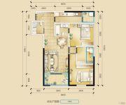 瑞鼎城3室2厅2卫106平方米户型图