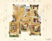 汇金原香3室2厅2卫132平方米户型图