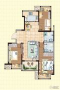 荣盛龙湖半岛3室2厅2卫106平方米户型图