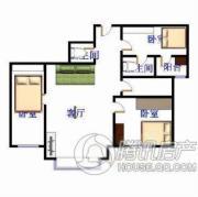 金田花园・花域3室1厅1卫0平方米户型图