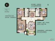 康桥原溪里3室2厅0卫118平方米户型图