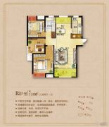 城东一号3室2厅1卫118平方米户型图