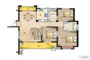 鹏欣领誉 高层3室2厅2卫139平方米户型图
