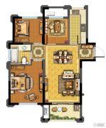 青林湾8期3室2厅1卫85平方米户型图