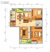 中泰美域3室2厅1卫117平方米户型图