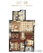 滨江公园壹号3室2厅2卫0平方米户型图