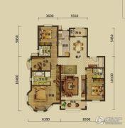 建邦原香溪谷4室2厅3卫206平方米户型图