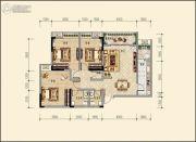 汇发・金元广场3室2厅2卫129平方米户型图