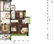 君华・禧悦台3室2厅2卫108平方米户型图