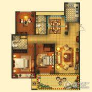 梦享城3室2厅2卫119平方米户型图
