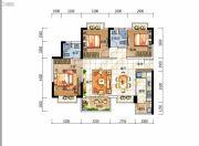光明国际3室2厅2卫0平方米户型图