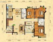 福庆花雨树3室2厅2卫139平方米户型图