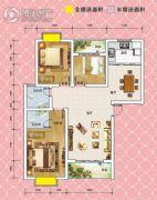锦绣御珑湾3室2厅2卫109平方米户型图